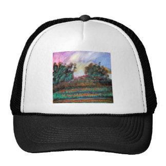 Landscape impressionism design trucker hat