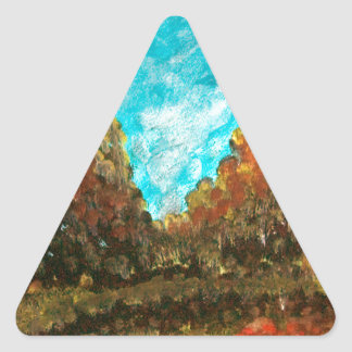 Landscape impressionism design triangle sticker