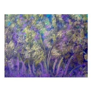 Landscape Impressionistic Tree Design Postcard