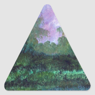 landscape in August Triangle Sticker