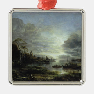 Landscape in Moonlight Christmas Ornament