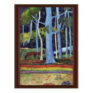 Landscape In Tahiti By Gauguin Paul (Best Quality) Postcard