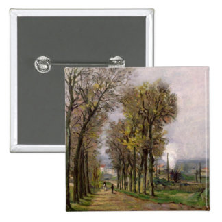Landscape in the Ile de France, c.1878 15 Cm Square Badge