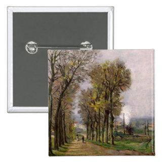 Landscape in the Ile de France, c.1878 15 Cm Square Badge