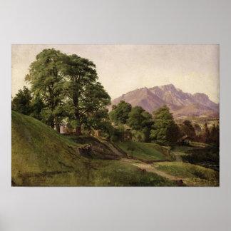 Landscape in Upper Bavaria, 1836 Poster