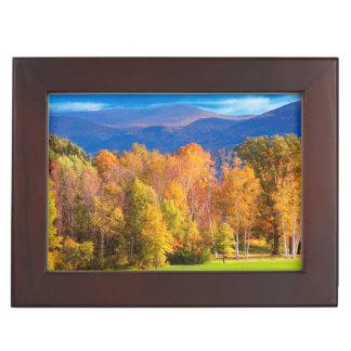 Landscape in Vermont Keepsake Box