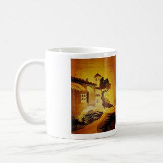 Landscape Italian Marquetry Reproduction 2 Basic White Mug