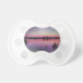 landscape lake at sunset baby pacifier