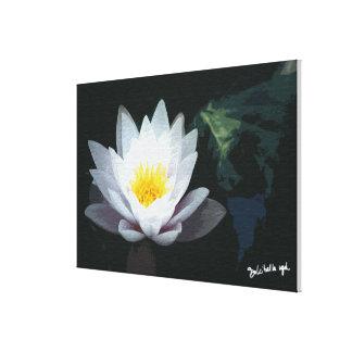 Landscape-Lotus White Canvas Print