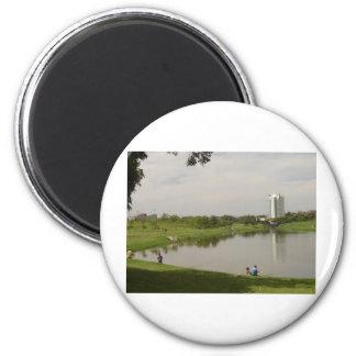 landscape 6 cm round magnet