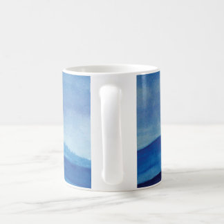 Landscape mountain watercolor Art White Mug