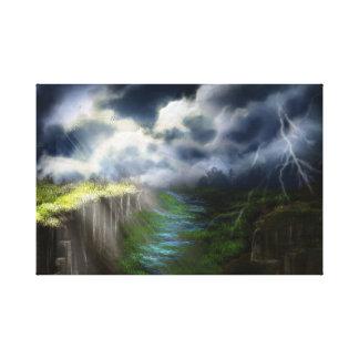 Landscape mysticism canvas print