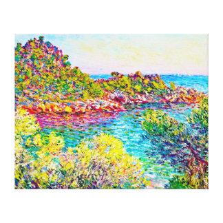 Landscape near Montecarlo, 1883 Claude Monet Canvas Print