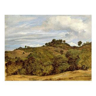 Landscape near Olevano, 1822 Postcard
