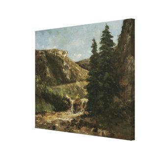 Landscape near Ornans, c.1858 Canvas Print