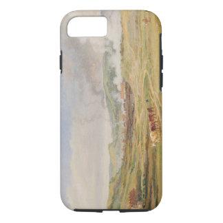 Landscape near Swansea, South Wales (oil on panel) iPhone 8/7 Case