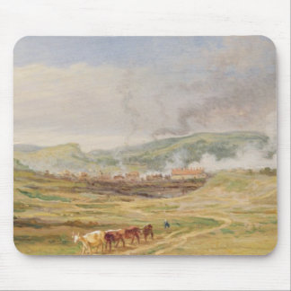 Landscape near Swansea, South Wales (oil on panel) Mouse Mat