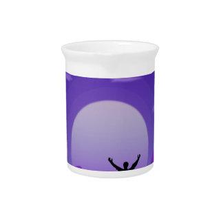 Landscape night illustration pitcher