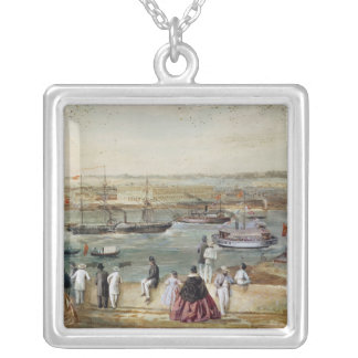 Landscape of Cuba Silver Plated Necklace