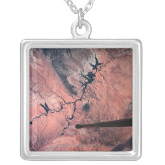Landscape of Earth 2 Silver Plated Necklace