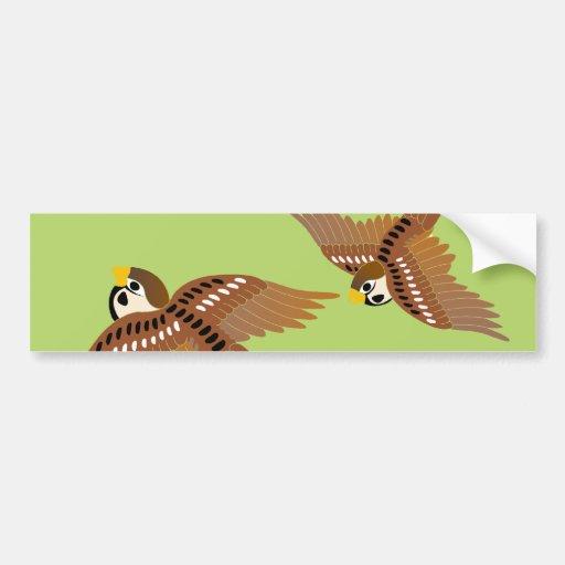 Landscape of everyday sparrow dances bumper sticker