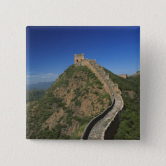 Landscape of Great Wall, China 15 Cm Square Badge