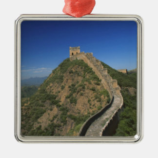 Landscape of Great Wall, China Silver-Colored Square Decoration