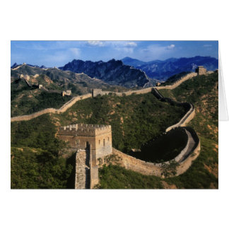 Landscape of Great Wall, Jinshanling, China Card