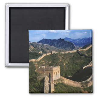 Landscape of Great Wall, Jinshanling, China Square Magnet