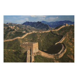 Landscape of Great Wall, Jinshanling, China Wood Print