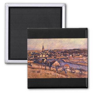 Landscape of Ile de France'_Impressionists Square Magnet