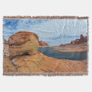 Landscape of Lake Powell Throw Blanket