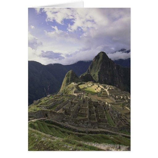 Landscape of Machu Picchu, Peru Cards