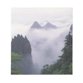 Landscape of Mt. Huangshan (Yellow Mountain) in Notepad