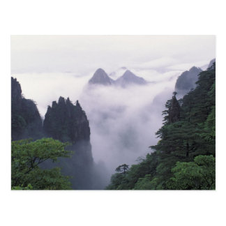 Landscape of Mt. Huangshan (Yellow Mountain) in Postcard