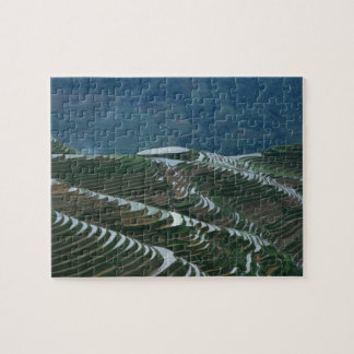 Landscape of rice terraces in the mountain, 2 jigsaw puzzle