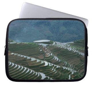 Landscape of rice terraces in the mountain, 2 laptop sleeve