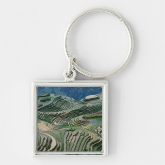 Landscape of rice terraces in the mountain, key ring