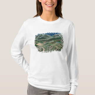 Landscape of rice terraces in the mountain, T-Shirt