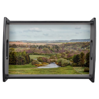 Landscape of the Derwent Reservoir in Co Durham Serving Tray