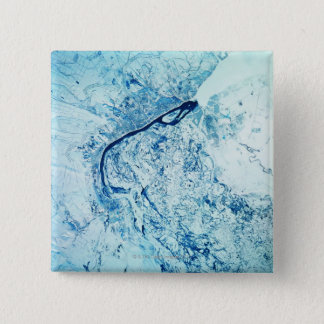 Landscape of the Earth 15 Cm Square Badge
