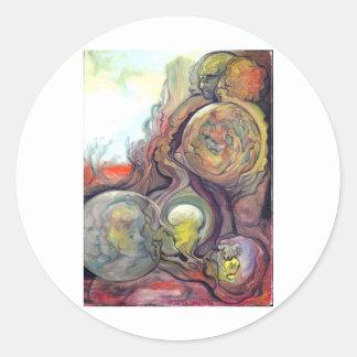 Landscape of the Mind Classic Round Sticker