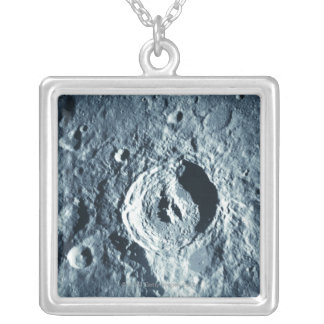 Landscape of the Moon Silver Plated Necklace