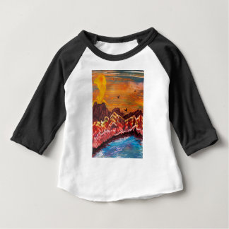 Landscape of the smoking volcano baby T-Shirt
