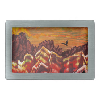 Landscape of the smoking volcano belt buckles