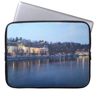 Landscape of Újezdv in Early Evening Laptop Sleeve
