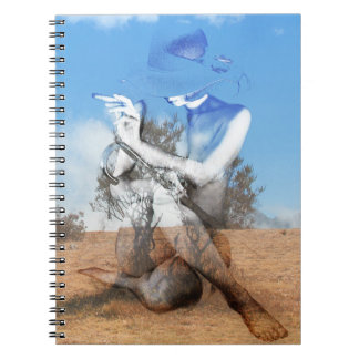 Landscape of woman notebooks
