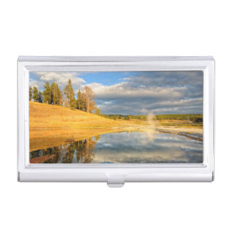 Landscape of Yellowstone Business Card Holder