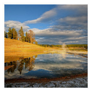 Landscape of Yellowstone Poster