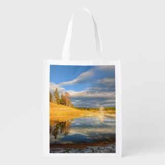 Landscape of Yellowstone Reusable Grocery Bag